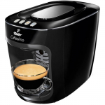 Espressor Tchibo Cafissimo mini Midnight Black 326682, 1500 W, Presiune pe 3 nivele, 650 ml, Espresso, Caffe Crema, Negru